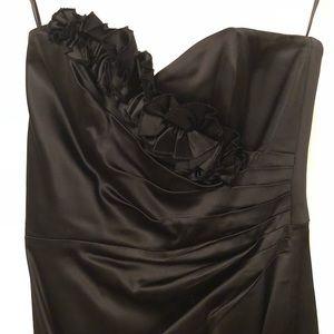 White House black market mid length satin dress